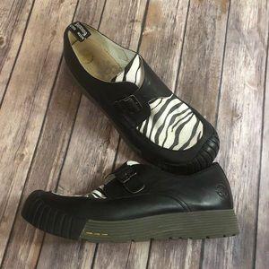Dr. Martens Zebra Buckle Loafer Air Wair Sole 12